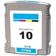 HP 10 Cyan Remanufactured Ink Cartridge (C4841A)