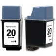 HP 20 Black Remanufactured Ink Cartridge (C6614DN)
