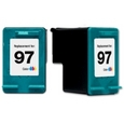 HP 97 Large Tri-Color Remanufactured Ink Cartridge (C9363WN)