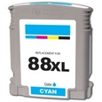 HP 88XL Cyan Remanufactured Ink Cartridge (C9391AN, C9386AN)