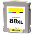 HP 88XL Yellow Remanufactured Ink Cartridge (C9393AN, C9388AN)