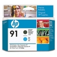 HP 91 Printhead Matte Black/Cyan (C9460A)