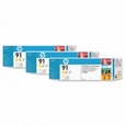 HP 91 3-Ink Multipack Yellow (C9485A)