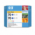 HP 70 Ink Twin Pack Blue (CB349A)