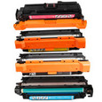 HP 504A Set Remanufactured Toner Set (CE250X, CE251A, CE252A, CE253A)