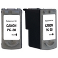 Canon PG-30 Black Remanufactured Ink Cartridge
