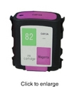 HP 82 Magenta Remanufactured Ink Cartridge (C4912A)