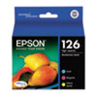 Genuine EPSON T126 Color High Yield Ink Cartridges (T126520), 3 Pack