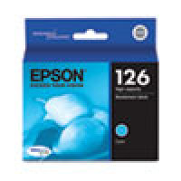 Genuine EPSON T126 Cyan High Yield Ink Cartridge (T126220)