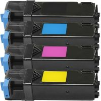 DELL 1320,1320C,1320CN,2130CN,2135CN New Generic Brand 4 Color Set (K,C,M,Y) Toner Cartridge