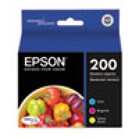Genuine EPSON T200 Color Ink Cartridges (T200520), Combo 3 Pack