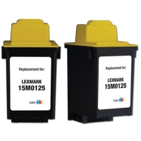 Lexmark #25 Tri-Color Remanufactured Ink Cartridge (15M0125)