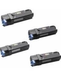 DELL 2150CDN, 2150CN, 2155CDN, 2155CN New Generic Brand 4 Color Set (K,C,M,Y) Toner Cartridge