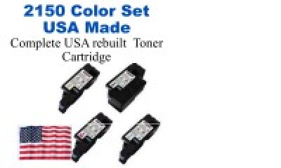 2150COLORSET USA Made Remanufactured Dell toner K-3K, CMY-2.5K