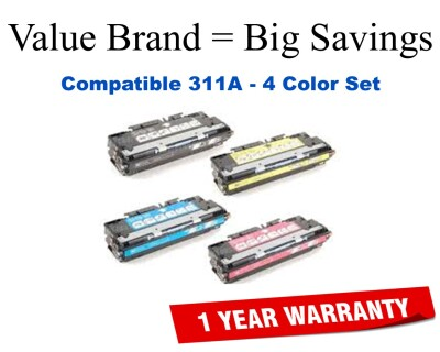 HP 308A, 311A Set Remanufactured Toner  (Q2670A, 81A, 82A, 83A)