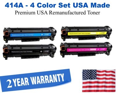 414A Series 4 Color Set USA Made Remanufactured HP toner W2020A,414A,W2021A,W2022A,W2023A