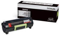 Genuine Lexmark 50F0HA0 50F1H00 (500HA) Black Toner (5,000 Yield)