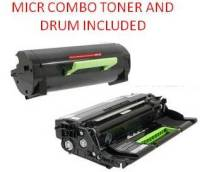 Lexmark 50F0UA0 Black Extra High Yield 20K Reman MICR Toner/Drum Combo