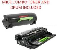Lexmark 50F1X00 Black High Yield Reman'd MICR Toner/Drum Set 10K Yield