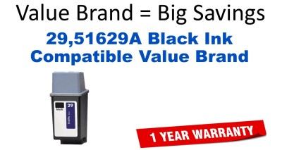 29,51629A Black Compatible Value Brand ink