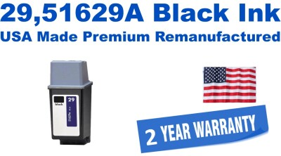 29,51629A Black Premium USA Made Remanufactured ink
