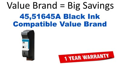 45,51645A Black Compatible Value Brand ink