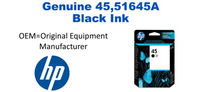 New Original HP 45 Black Ink Cartridge (51645a) (#45)