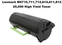 Lexmark 52D1H00 Black 25K Compatible Toner for use in MS710/11/810/11/12