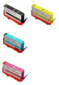 HP 564XL-4 Color Ink Cartridge Set, Remanufactured BCMY Combo (#564XL)