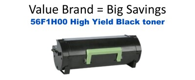 Lexmark 56F1H00 Black High Yield Remanfactured Toner 15 000 Yield