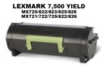 Lexmark 58D1000 Black Remanufacutured Toner 7,500 Yield