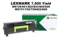 Genuine Lexmark 58D1000 Black Toner 7,500 Yield
