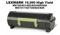 Lexmark 58D1H00 Black High Yield Remanufacutured Toner 15,000 Yield