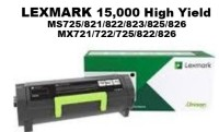 Genuine Lexmark 58D1H00 Black High Yield Toner 15,000 Yield