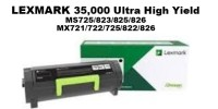 Genuine Lexmark 58D1X00 Black Extra High Yield Toner 35K Yield