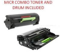 Lexmark 60F1H00 Black High Yield Reman MICR Toner/Drum Combo 10K