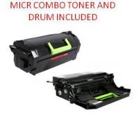 Lexmark 62D1H00 Black High Yield Reman MICR Toner/Drum Combo 25K