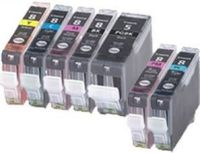 Canon 7 Color Set, Reman B,C,M,Y,PC,PM,& PGI5 Black (CLI8,PGI5)