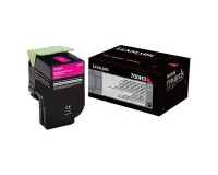 Genuine Lexmark 70C0H30 Magenta High Yield Toner Cartridge (3,000 Yield)
