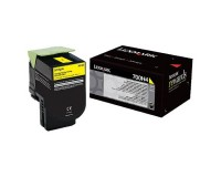 Genuine Lexmark 70C0H40 Yellow High Yield Toner Cartridge (3,000 Yield)