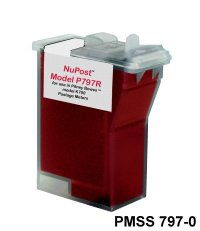 Pitney Bowes #797 Red Remanufactured Brand Postage Meter Cartridge