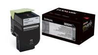 Genuine Lexmark 80C0H10 Black High Yield Toner (800H1) (4,000 Yield)