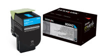 Genuine Lexmark 80C0H20 Cyan High Yield Toner (800H2) (3,000 Yield)