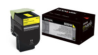 Genuine Lexmark 80C0H40 Yellow High Yield Toner (800H4) (3,000 Yield)