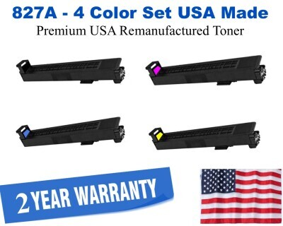 827A Series 4-Color Set Premium USA Made Remanufactured HP toner CF300A,CF301A,CF302A,CF303A