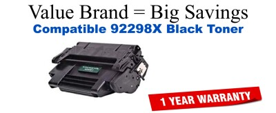 92298X,98X High Yield Black Compatible Value Brand toner