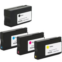 HP 952XL 4 Color Ink Cartridge Set, Remanufactured BCMY Combo (#952XL)