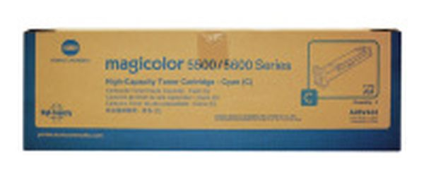 New Original Konica Minolta A06V433 Cyan Toner Cartridge
