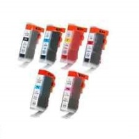 Canon BCI6 - Remanufactured 6 Color Ink Catridge Set (Black, Cyan, Magenta, Yellow, Photo Cyan, Photo Magenta)