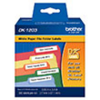 Genuine Brother DK1203 File Folder Die-Cut Paper Label (300 Labels) (1/Pkg)